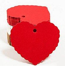 Papier - Visačka srdiečko 6,5 x 5 cm (Červená) - 9965491_