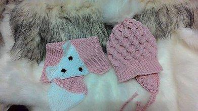 Detské čiapky - čiapka a šál - 9962959_