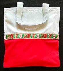 Nákupné tašky - Taška s folklórnou stuhou - 9964146_