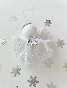 Dekorácie - Vianočný anjel na stromček I - 9963099_