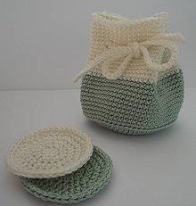 Úžitkový textil - Kozmetické tampóny - sada  (Zelená) - 9964826_