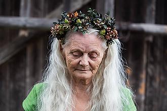 """Ozdoby do vlasov - Greenery čelenka """"vôňa októbrovej trávy"""" - 9963876_"""