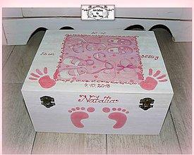 Krabičky - Hlboká krabica s údajmi o narodení bábätka :) - 9963776_