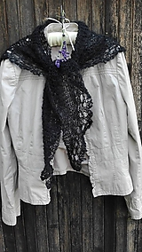 Šatky - pavučinka čierna - 9965467_