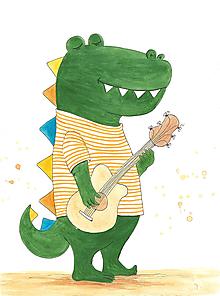 Obrázky - Veselý deň, obrázok, dino, krokodíl - 9964874_