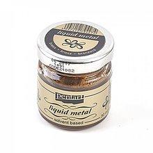 Farby-laky - Tekutý kov - bronzový, 30ml - 9965350_