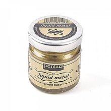 Farby-laky - Tekutý kov - antický zlatý, 30ml - 9965367_