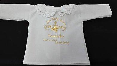 Detské oblečenie - Krstová košieľka - 9964941_