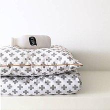 """Textil - Vankúšik & Deka """"Grey Cross"""" - 9963374_"""