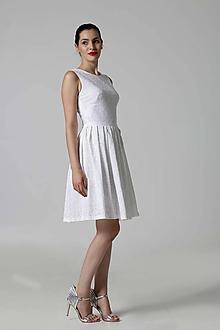 Šaty - Šaty biele z madeiry - 9967070_