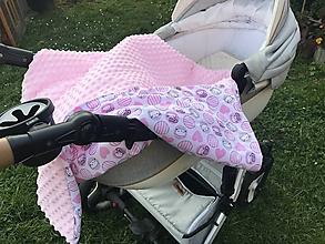Textil - Deka pre bábätko 75 x 100 cm  (75 x 100 cm  - Ružová) - 9970024_