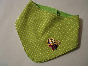 Detské doplnky - slintáčik - šatka- včielka - 9970022_