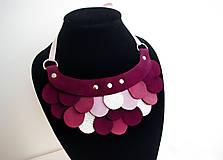 Náhrdelníky - Slzičkový kožený náhrdelník - 9969179_