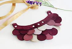 Náhrdelníky - Slzičkový kožený náhrdelník - 9969180_