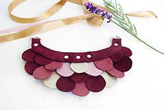 Náhrdelníky - Slzičkový kožený náhrdelník - 9969181_