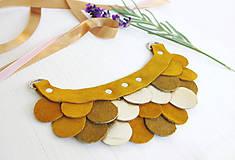 Náhrdelníky - Slzičkový kožený náhrdelník - 9969242_
