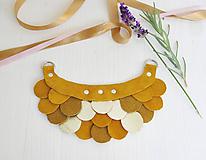 Náhrdelníky - Slzičkový kožený náhrdelník - 9969243_