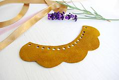 Náhrdelníky - Kožený náhrdelník - 9969270_