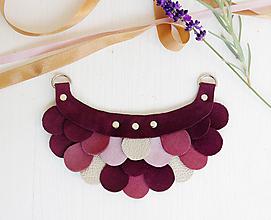 Náhrdelníky - Slzičkový kožený náhrdelník - 9969184_