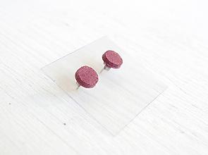 Náušnice - Kožené náušnice - 9969232_