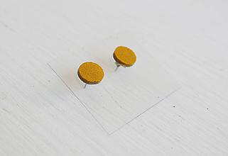 Náušnice - Kožené náušnice - 9969290_