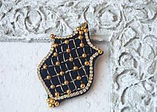 Odznaky/Brošne - Kráľovská brošňa v tvare erbu - 9968739_