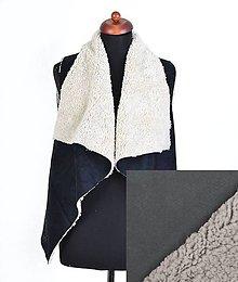 Iné oblečenie - Kožušinová vesta Sivá - 9970176_