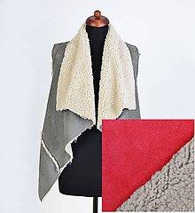 Iné oblečenie - Kožušinová vesta Červená - 9970432_