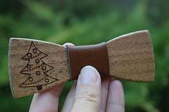 Doplnky - Drevený motýlik - stromček - 9968057_