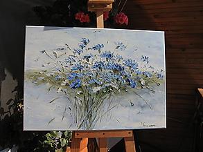 Obrazy - Modrá kytica - 9967790_
