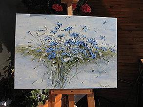 Obrazy - Modrá kytica - 9967798_