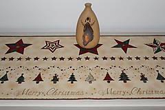 Úžitkový textil - Vianočný obrus -štóla - 9970162_
