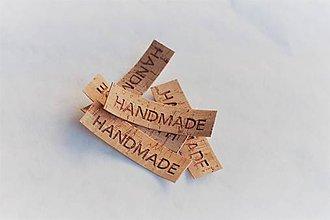 Drobnosti - Korkové štítky Handmade - 9967996_