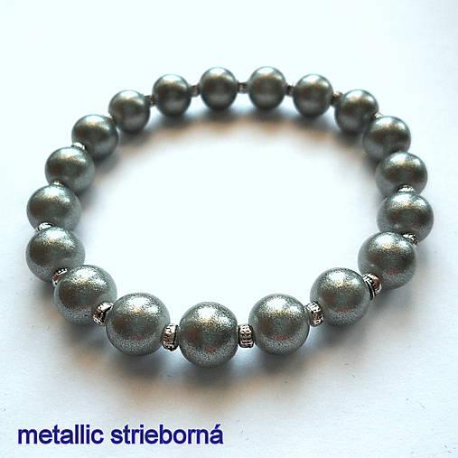 Náramok-OXANA metallic (strieborná)