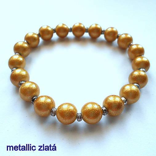 Náramok-OXANA metallic (zlatá)