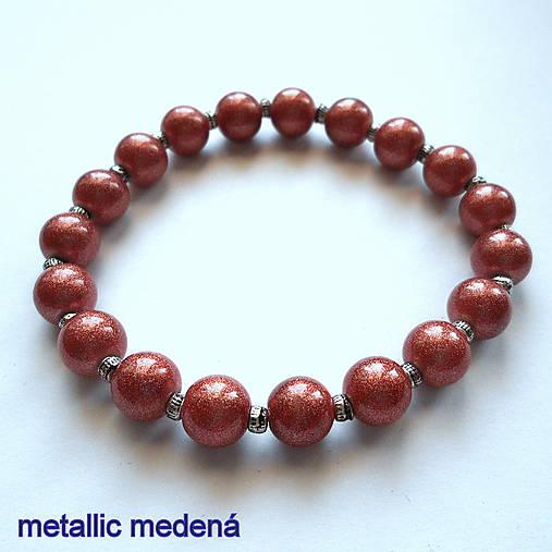 Náramok-OXANA metallic (medená)