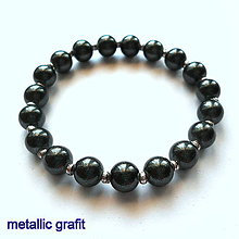 Náramky - Náramok-OXANA metallic (grafit) - 9970112_