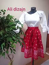 Sukne - Folková sukienka (Červená) - 9967879_