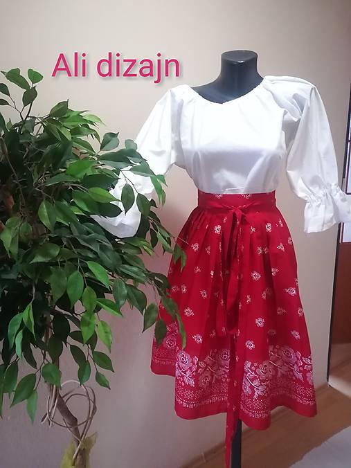 Folková sukienka (Červená)