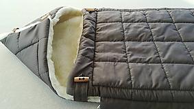 Textil - RUNO SHOP fusak pre deti do kočíka 100% ovčie runo MERINO TOP super wash ELEGANT Rainbow elephant grey - 9970689_