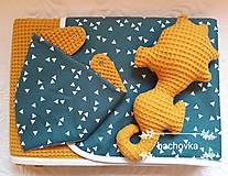 Textil - Detský set zeleno-horčicový - 9970102_