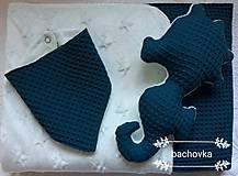 Textil - Detský set petrolejový - 9970138_