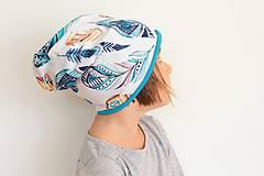 """Detské čiapky - Dvojvrstvová čiapka """"pierka"""" - 9966989_"""