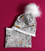Detské čiapky - Setík pre malé princezné - 9970676_