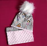 Detské čiapky - Setík pre malé princezné - 9970679_
