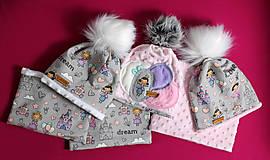 Detské čiapky - Setík pre malé princezné - 9970680_
