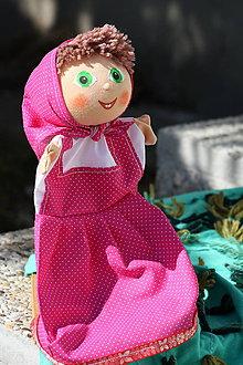 Hračky - Maňuška. Bábika Dievčatko Mášenka - 9970096_