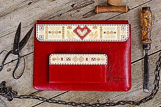 Na notebook - PUZDRO FOLK EDITION ČERVENÉ (na MacBook 12 (drievko s červenou niťou)) - 9969326_