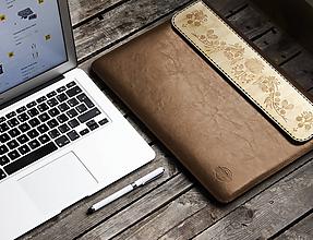 Na notebook - VOŇAVÉ KOŽENÉ PUZDRO KALOCSAI HNEDÉ - 9969644_