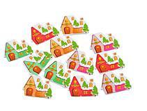 Gombíček vianočný DOMČEK 2,5 x 3,5 cm
